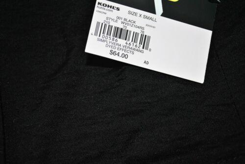 Size X Small Simply Vera Vera Wang Women/'s Black Long Sleeves Blazer