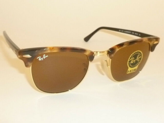 f38b1eaec9c New RAY BAN Clubmaster Tortoise Frame RB 3016 1160 B-15 Brown Lenses 51mm
