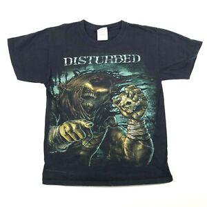 Disturbed-2010-Caballeros-Pequeno-Banda-T-Camiseta-Camisa-Nigromante-Crew-Cuello