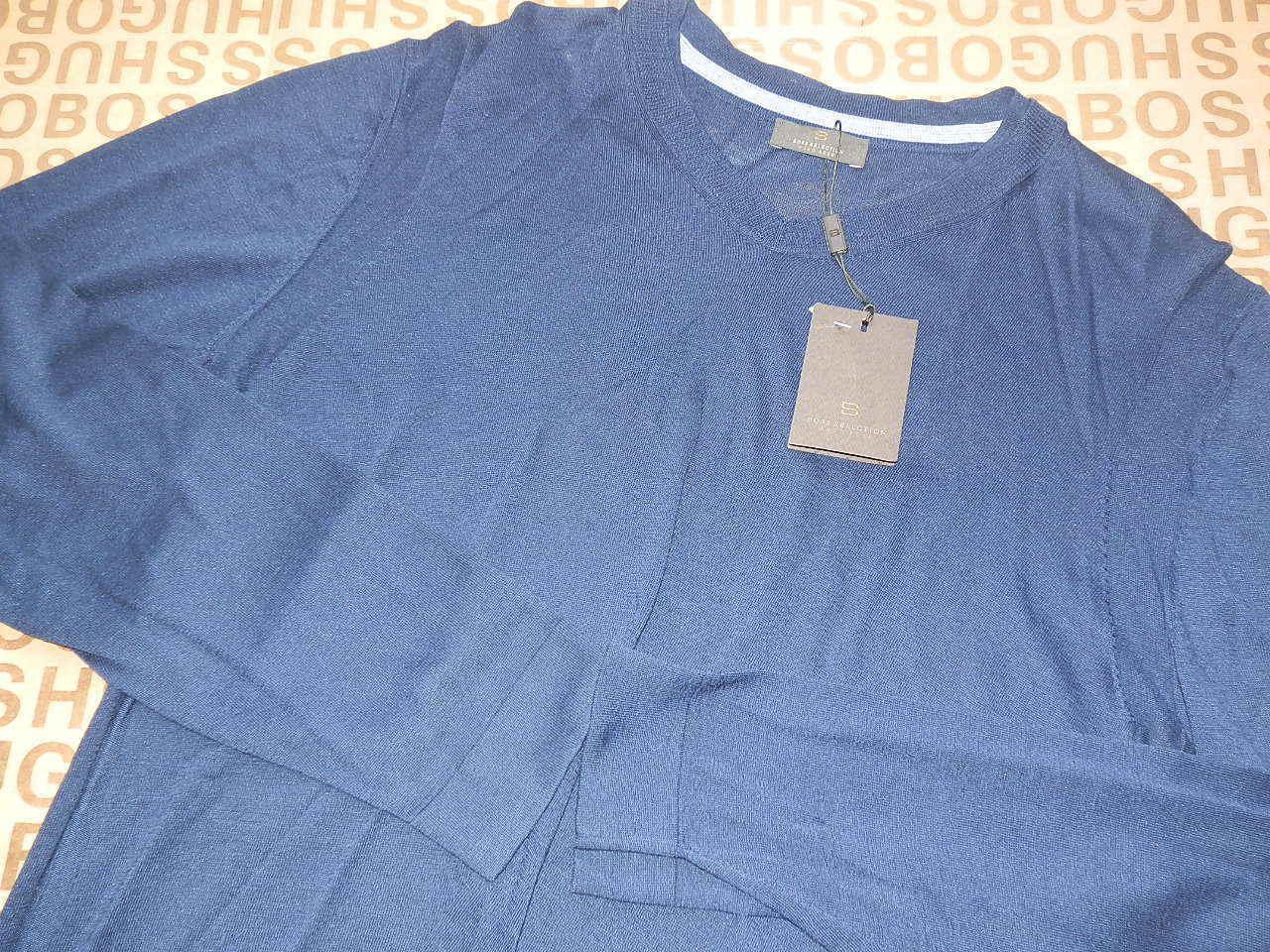 NEW HUGO BOSS MENS blueE SELECTION SHIRT KNITWEAR SWEATER CARDIGAN JUMPER TOP XL