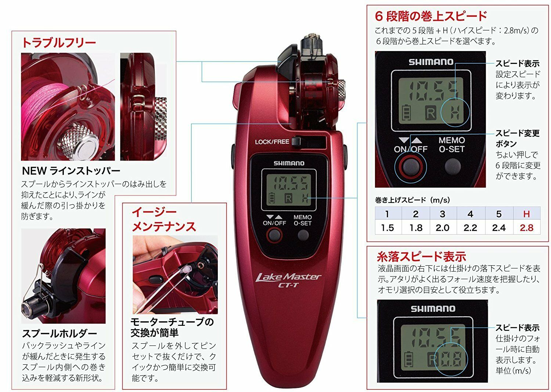 SHIMANO ELECTRIC REEL 17 WAKA SAGIMATIC LAKE MASTER MASTER LAKE CT-T CLEAR ROT BRAND NEW F/S 415e83