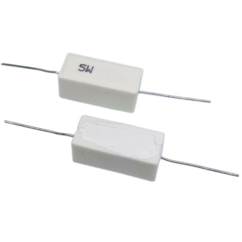 US Stock 10pcs 20 ohm 20RΩJ 5 watt Axial Ceramic Cement Power Resistor 5W