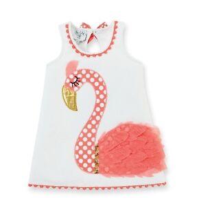 NWT Mud Pie Baby Flamingo Fun Shift Dress