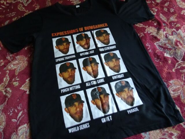 EXSPRESSIONS OF MADISON BUMGARNER T SHIRT LG SAN FRANCISCO GIANTS