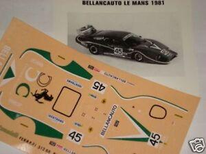 FERRARI-512-BB-BELLANCAUTO-24h-LE-MANS-1981-1-43-DECALS