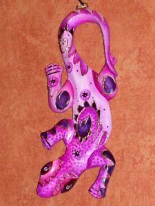 Details Zu Gecko Wanddeko 28cmx11cm Echse Deko Sammler Lila Relief Kinderzimmer Kinder