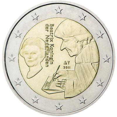 2011 Netherlands € 2 Euro Uncirculated Coin Erasmus Praise of Folly 500  Years | eBay