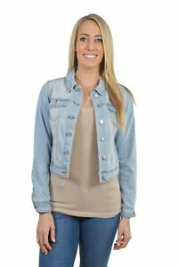 Women-039-s-Juniors-Premium-Stretch-Denim-Long-Sleeve-Jacket