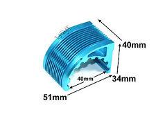 CNC Aluminum Alloy (T6061) 40mm Inrunner Motor Heat Sink, Blue, US 037-04801Blu