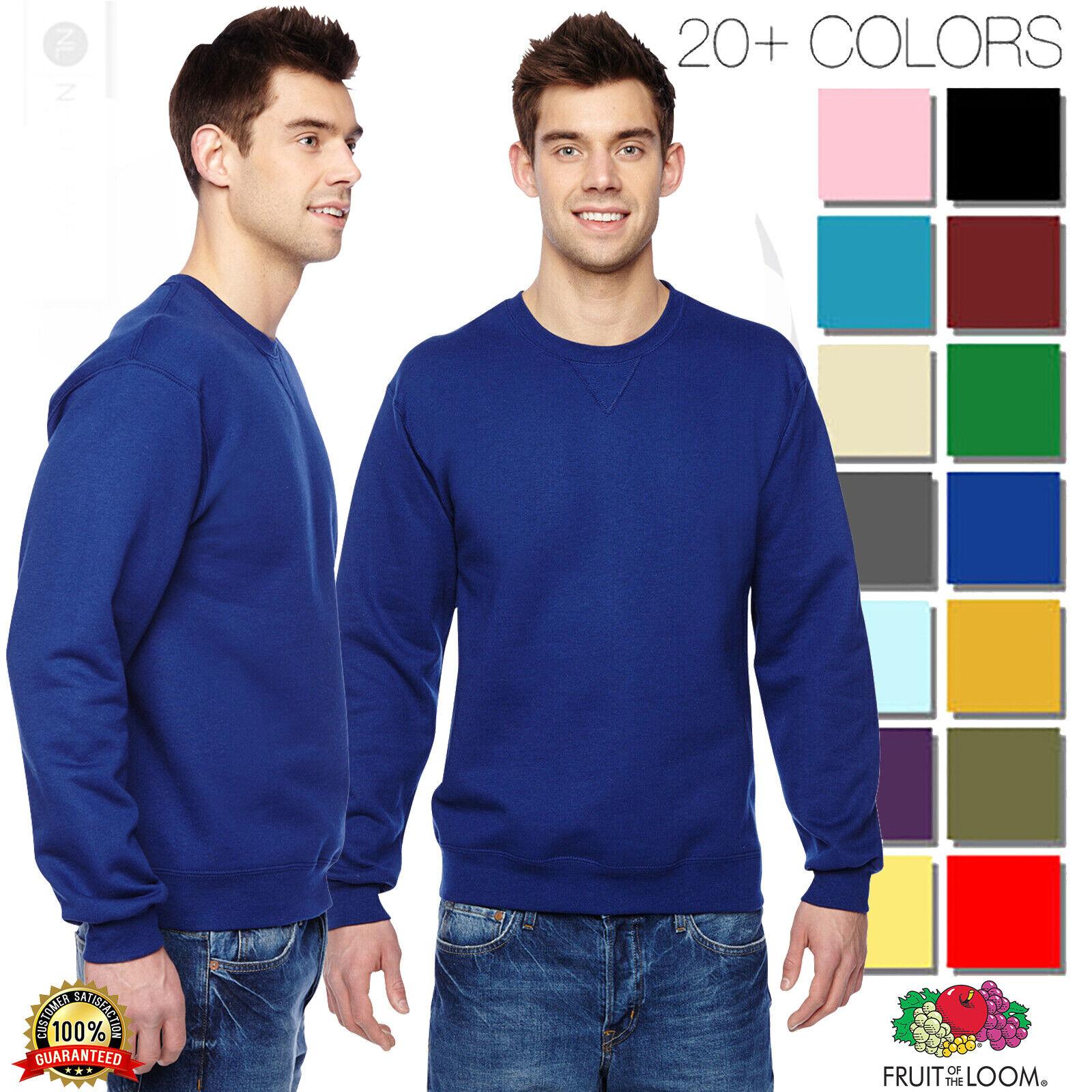 Fruit of the Loom SF72R Unisex 7.2oz Sofspun Crewneck Sweatshirt Cotton Blend