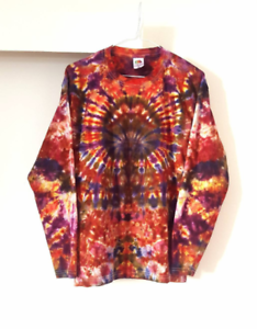 Autumn Long Sleeve T-shirt Tie Dye Top 90s Grunge Unisex Festival Fall Top