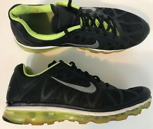 c6e41ee2583 Nike Air Max 2011 Mens Running Shoes Size 11.5 Black Volt Neon Green ...