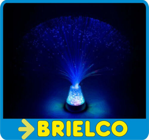 LAMPARA FILAMENTOS FIBRA OPTICA MULTICOLOR USB 7 LEDS MOTIVOS NAVIDEÑOS BD6455