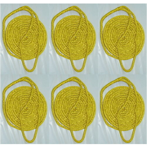 6 Pack of 1//4 Inch x 6 Ft Yellow Double Braid Nylon Fender Lines for Boats