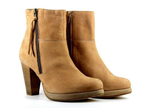 5 Zip Reserved Nubuck Leather 6 Eu Ankle Boots Beige 40 Uo Heeled Womens Uk xCnxqgBwpt