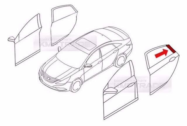 Oem C Pillar Door Rear Frame Black Garnish 2pcs Set For 2011 2016