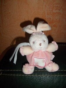 Doudou Kaloo Mini Lapin Boule Rose Fleur Lilirose  20 cm