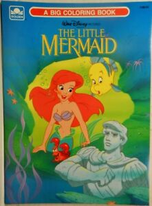 Details about Disneys The Little Mermaid: A Big Coloring Book (1989  Paperback 1138-23, Golden)