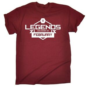 Legends-Are-Born-In-February-MENS-T-SHIRT-Tee-birthday-gift-Pisces-Aquarius
