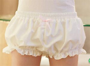 Cute Black Elastic Mori Girl Lolita Lace Bloomers Pantaloons Shorts Cosplay Women's Clothing