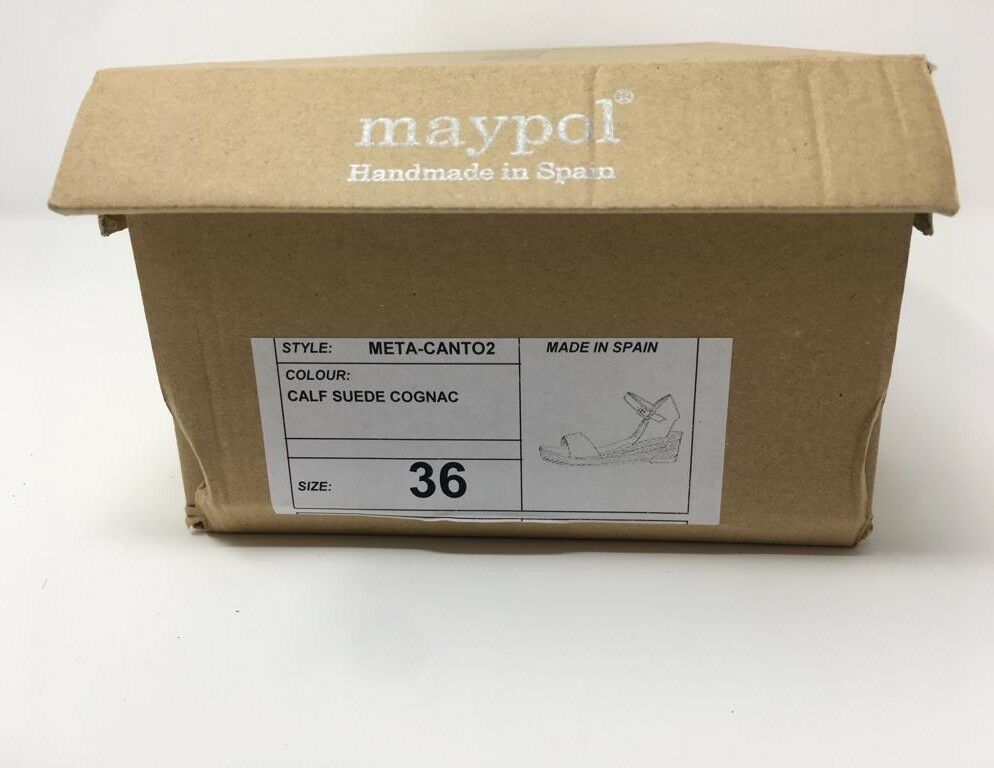 MAYPOL MAYPOL MAYPOL Cognac Suede Heeled Espadrilles b70d12