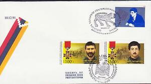 Orderly Nagorno Mountainous Karabakh Armenia 1993 2015 Double Fdc Heroes R17293 Stamps Asia