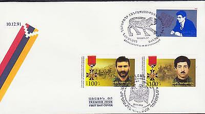 Armenia Stamps Gentle Nagorno Mountainous Karabakh Armenia 1993 2015 Double Fdc Heroes R17293 Refreshing And Enriching The Saliva
