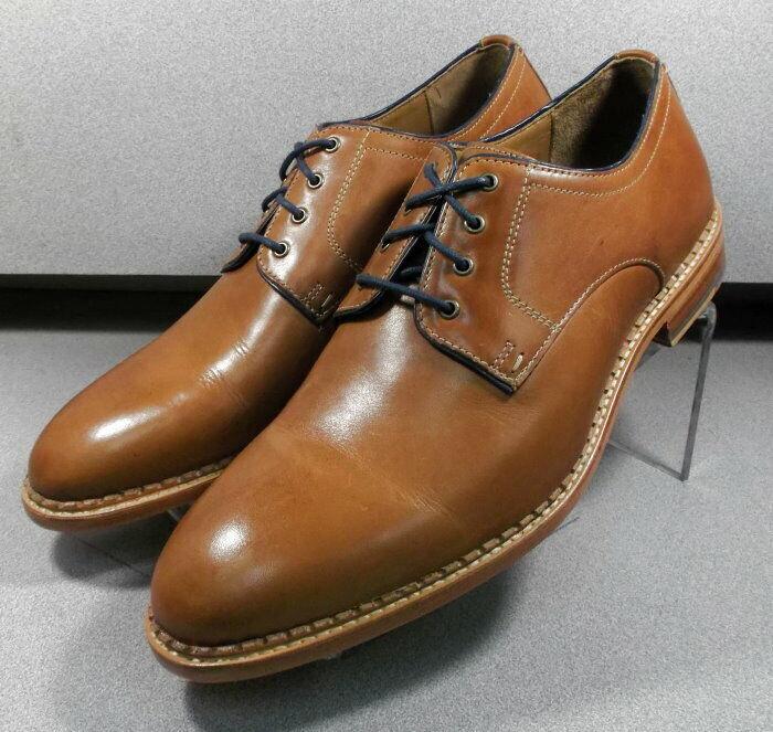 271180 MS50 Chaussures Hommes Taille 11 M marron clair en cuir à lacets Johnston & Murphy
