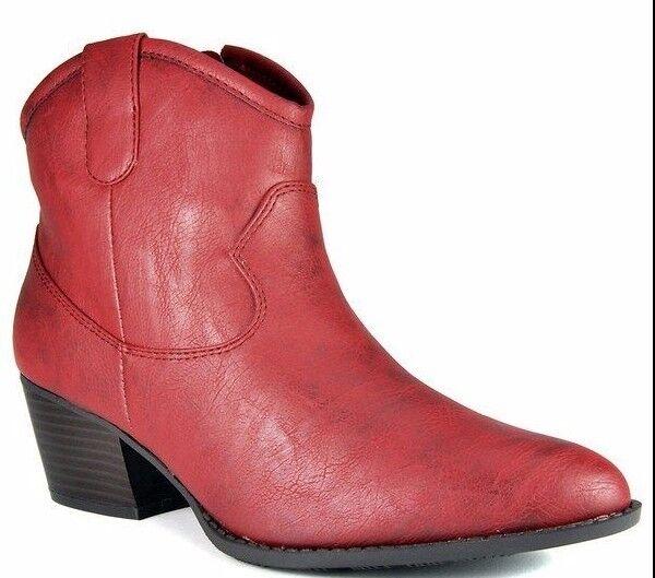 Unlisted By Kenneth Cole es un éxito con aspecto envejecido Western Cowboy Botín Rojo  79
