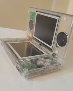 Nintendo-DS-Lite-console-New-CLEAR-shell-with-charger