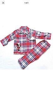 # Bnwt-disney Minnie Mouse Rouge Carreaux Pyjama Âge 9 - 12 Mois Rrp £ 8-afficher Le Titre D'origine Forfaits à La Mode Et Attrayants