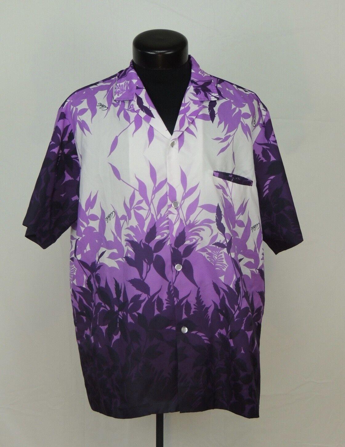 VTG Made Hawaii Hawaiian Shirt Aloha Royal Creations Floral Purple Aloha Luau L