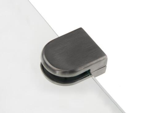 Edelstahl GLASHALTER 45x55mm 8mm 8,38mm 8,76mm 10mm 12mm Klemmhalter Glasklemme