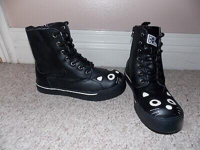 T.U.K A9101L Kitty Sneaker Boot Red Velvet