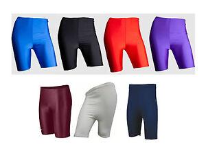 New-Cycling-Shorts-Lycra-Short-PE-School-Sports-Dancing-Athletics-Mens-Womens