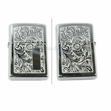 Zippo BRASS VENETIAN Chrome Lighter Made in USA /GENUINE and ORIGINAL Packing