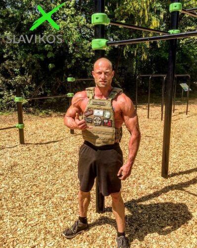 Gewichtsweste TARN CAMO SLAVIKOSWAY Training 9,1kg Gewichtsplatten Calisthenics