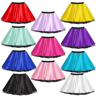 "CHILDREN/'S 12/"" SATIN AND NET TUTU Skirt TAP /& JAZZ DANCE FANCY DRESS COSTUME"