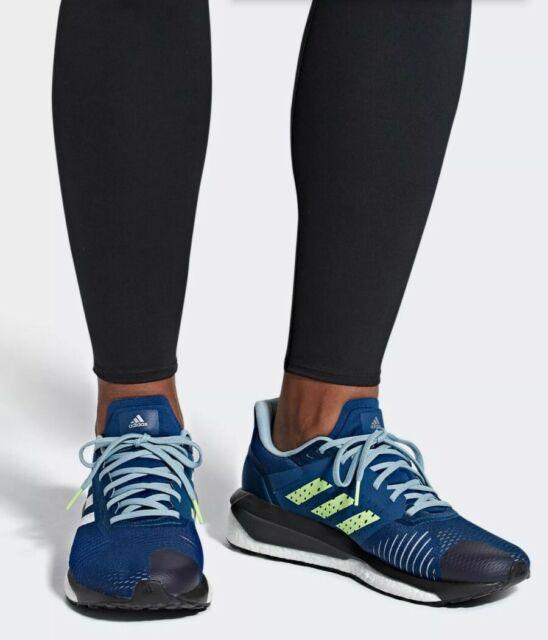 ADIDAS Solar Drive ST Boost running shoes, men's 12 Marine/White/Grey D97453