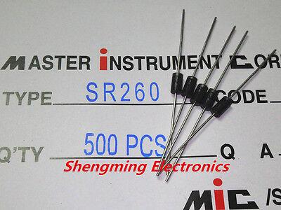 20pc Schottky Diode SR260 2A 60V Vd=0.7V @2A RoHS MIC Taiwan