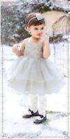 Janie & Jack 3 6 M Fairy Ballet Metallic Silver Tulle Dress Special Wedding