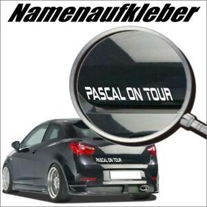 Baby on Tour, Namenaufkleber<wbr/>, Domain Aufkleber, Autoaufkleber Wunschtext GRN08