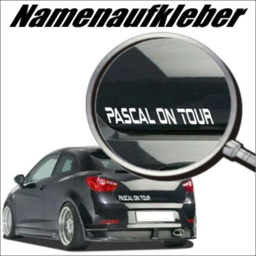 Baby on Tour Autoaufkleber Wunschtext GRN08 Domain Aufkleber Namenaufkleber