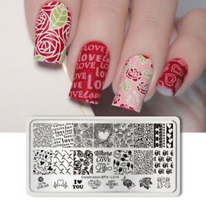 BORN-PRETTY-Celebration-Nail-Art-Stamping-Image-Plate-Valentine-039-s-Day-Template