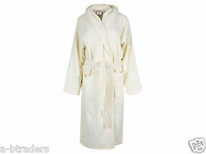 Mens Ladies Hooded Bath Robe 100% Egyptian Cotton Terry Towelling ... b91a95b57