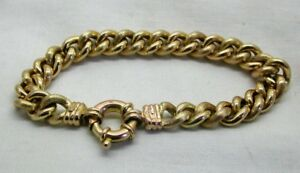 Heavy-Quality-9-Carat-Gold-Patterned-Curb-Link-Bracelet