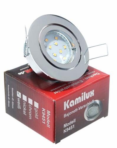 5W 400Lm 230V LED Einbauleuchten Bajo K9451 Schwenkbar Einbauleuchte Einbauspots