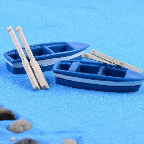 1Set Boat Miniature Figurine Garden Ornament Plant Fairy Decor Office Crafts ME
