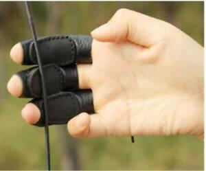 3x Kuh Leder Bogenschießen Fingerschutz Schutzpolster Handschuh Tab Bogen