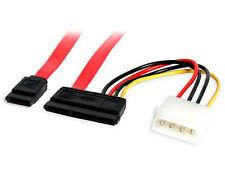 Micro Connectors, Inc (TM) SATA III Data Cable w/LP4 Molex Combo Cable (2 Pack)